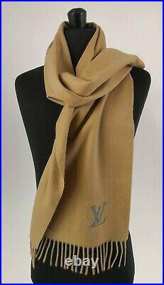 LOUIS VUITTON Authentic 100% Cashmere Camel Scarf NEW Old Collection RP 650£