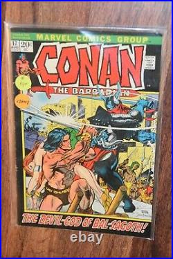 Lot of 37 old Conan The Barbarian 1972 Marvel Comic Book INCOMPLETE run # 17-99