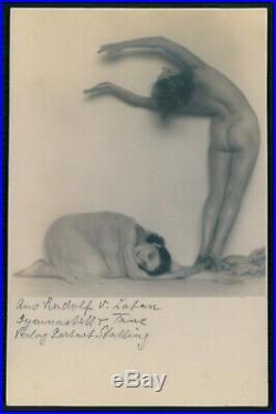 Madame d'Ora Dora Kallmus nude dancer woman original old 1920s photo postcard