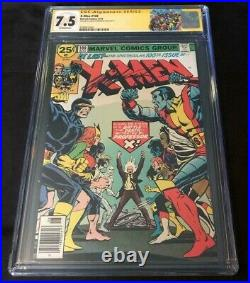 Marvel Comics X-MEN #100 CGC 7.5 SIGNED BY CLAREMONT NEW VS OLD TEAM GSX LABEL
