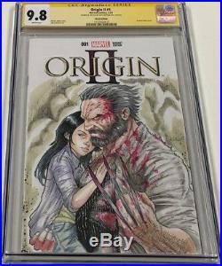 Marvel Origin II #1 Old Man Logan Sketch Signed & Sketched Alex Kotkin CGC SS