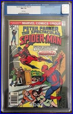 Marvel Spectacular Spider-Man #1 1976 CGC 9.6 White Pages Old Label Unpressed