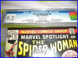 Marvel Spotlight #32 CGC 9.2 1st Appearance of Spider-Woman= OLD LABEL