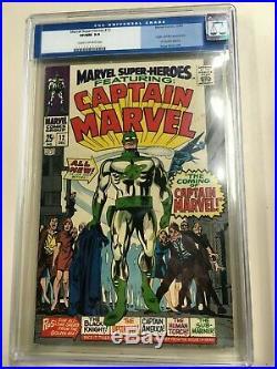 Marvel Super-Heroes #12 1967 CGC 9.0 Old Label Unpressed 1st Captain Marvel