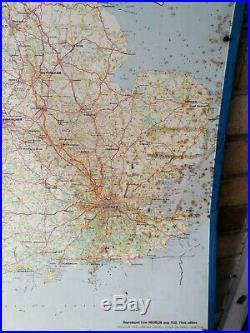 Michelin Map Sign Not Enamel Original Old Rare Classic Car Petrol Pum Globe Sign