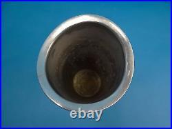 Modern Metal Aluminum Nambe 6061 1994 Karim Rashid Kissing Flower Vase Used Old