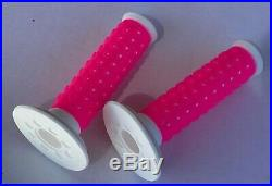 NEW Oakley Bike B1B Grips Bright Pink/ White RARE! Old School BMX Collectable