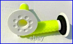 NEW Oakley Bike B1B Grips Hi Vis Yellowith White RARE! Old School BMX Collectable