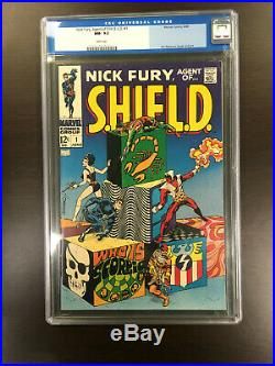 NICK FURY, AGENT OF SHIELD #1 CGC 9.2 (Jim Steranko) OLD LABEL