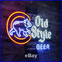 Neon Sign Old Style Beer Bistro Poster Game Room Vintage Cafe Bedroom
