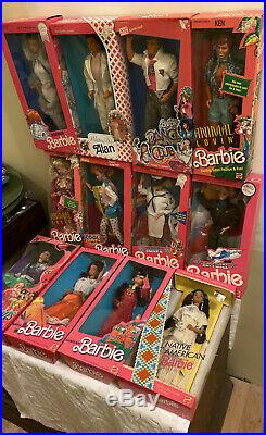 New In Boxes-Old Collection BARBIES LOT OF 12 Please See Description