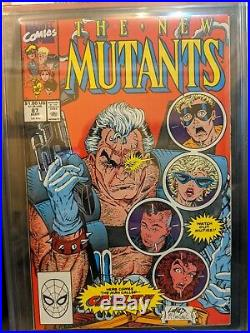 New Mutants # 87 CGC 9.6 Direct Edition, Old Label 1st Cable