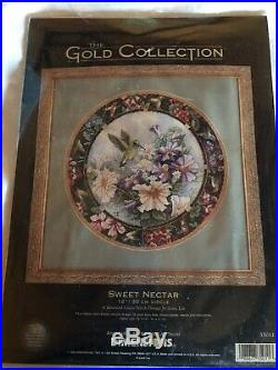 New Old Stock The Gold Collection Sweet Nectar Cross Stitch Kit 1999 #35011