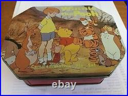 OLD Disney Pin Commemorative Tin Set Winnie the Pooh Tigger Piglet Eeyore Kanga+