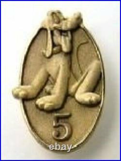 OLD RARE Disney pin Cast Member Service Award 5 Year Anniversary Pluto Sitting