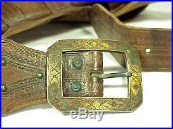 Old COWBOY Studded HOLSTER & BELT Colt Single Action. 45 Caliber