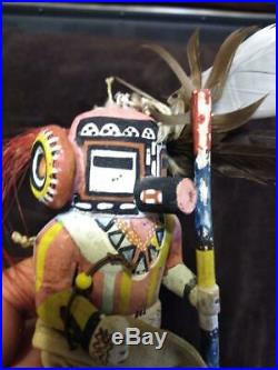 Old Hand Carved Wood Wooden Native American Indian Kachina Doll Statue Man Art