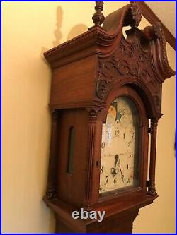 Old Henry Ford Museum Grandfather Clock Tall Case Chippendale Copy not antique