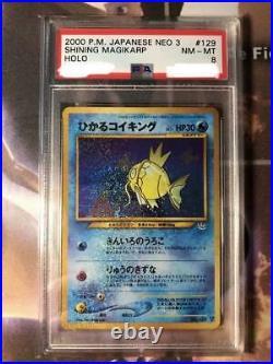 Old Pokemon card collection Shining Magikarp no. 129 PSA8