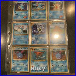 Old Pokemon card lot collection Blastoise / Gyarados / Freezer etc excellent
