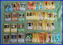 Old Pokemon card lot collection Eevee / Pikachu / Dragonite etc excellent