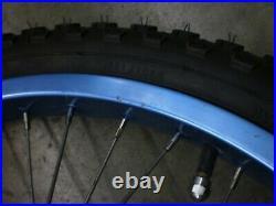 Old School BMX Ukai HE 20 by 1.75 blue rims BMX 36h Sunshine hubs Gt SE CW GJS