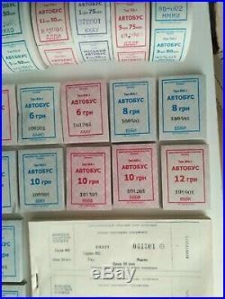 Old bus Tickets rolls pads Cinema Sport not valid Collectible