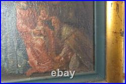 Old painting oil on board framed madona and child Austria original 19th c 1800