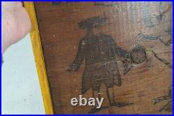 Old period primitive wood hand painted sign Quaker Oats 18x12 original