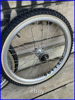 Old school bmx Araya Aero Wheel Set Suntour Hubs Tyres Not Included