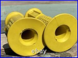 Old school bmx Oakley 1 Original Yellow Grips Not Repop! Vintage Bmx