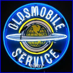 Oldsmobile Dealership Neon Sign Olds Globe 88 Car Dads Garage wall Lamp light