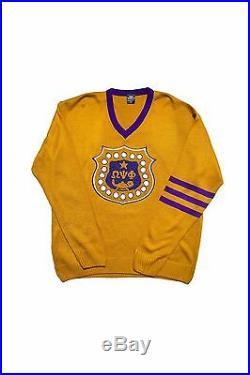 Omega Psi Phi Old Gold Old School VNeck Sweater