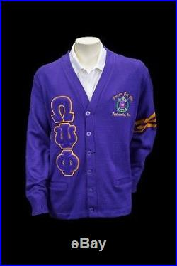 Omega Psi Phi Old School Cardigan Sweater