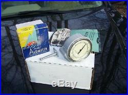 Original 1940' s Vintage Rat Hot rod Auto Altimeter gauge nos gas oil original