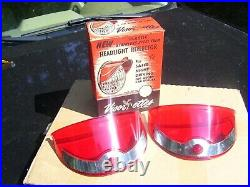 Original 1950' s Vintage nos Visor-ettes Headlight visor hoods old Rat Hot rod