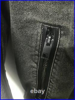 Original Diesel Black Denim Jacket Old Stock Collection Rare Size M