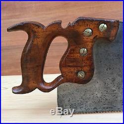 PREMIUM Quality SHARP! Antique DISSTON No16 6PPI RIP SAW Old Vintage Tool #239