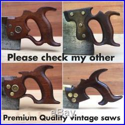 PREMIUM Quality SHARP! DISSTON 1865-71 No9 Rip SAW Vintage Old Hand Tool #299