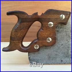 PREMIUM Quality SHARP! Vintage ATKINS 401 7pt Xcut SAW Old Antique Tool #167