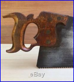 PREMIUM Quality SHARP! Vintage DISSTON 1865-71 No7 SAW Antique Old Tool #298
