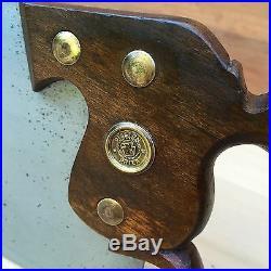 PREMIUM Quality SHARP! Vintage DISSTON No340 Metal SAW Old Antique Tool #77