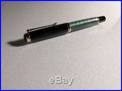 Pelikan Souveran M600 Green Striped Fountain Pen Nib14C / M Old Model 134mm