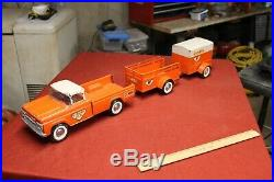 RARE 1961 Ny-Lint Vintage Uhaul Moving Truck Trailer 3 Piece Old Collectible Toy