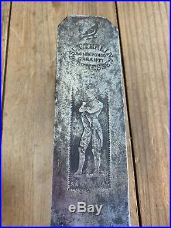 RARE! Antique NAPOLEON Bonaparte PLANE BLADE Vintage Old Hand Tool Y2360