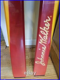 RARE NEW OLD STOCK Blizzard Johnnie Walker Advertising 170 cm Downhill Skis