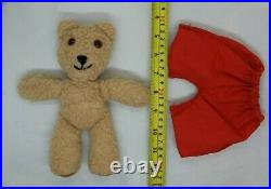 RARE old bear Jane Hissey Little Bear Red Trousers Collectable