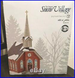 RETIRED Enesco Dept 56 Snow Village Villages Old St John's Church 4054776