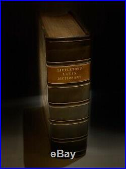 Rare 1735 Littletons Latin Dictionary, 4 Parts, Vintage Collectable Old Book
