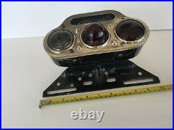 Rare 1920's Monarch Accessory Tail Light, Chicago, Triple Lens, Trio Lite